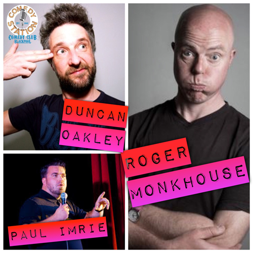 Friday Night Laughs, with Roger Monkhouse, Duncan Oakley, Paul Imrie & Ryan Gleeson